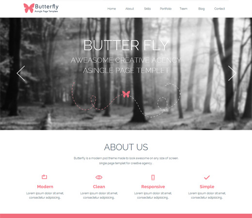 Butterfly-Free Corporate portfolio Flat Responsive web template