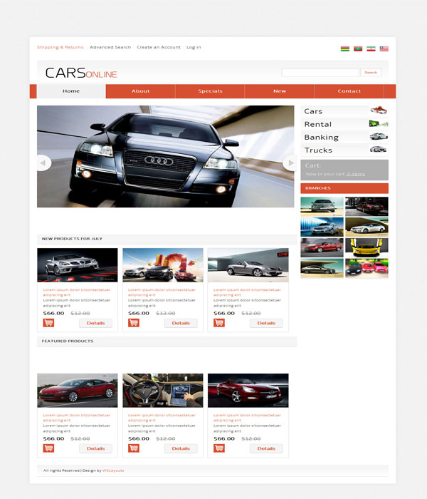 Cars Online-Automobile E-commerce Bootstrap responsive template