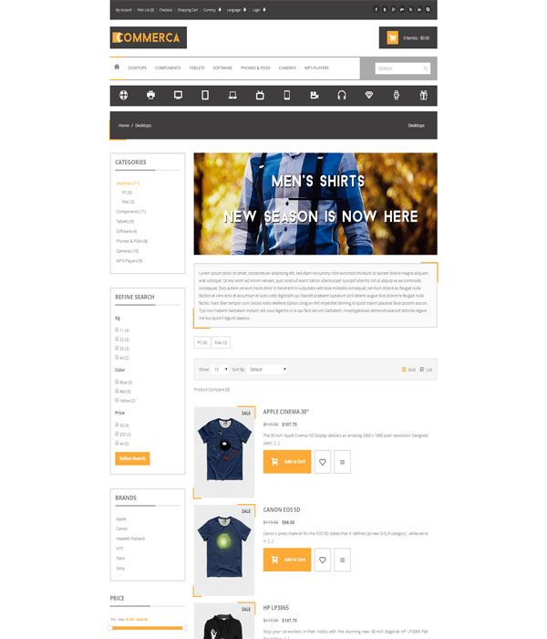 Commercashop-Responsive E-commerce bootstrap html5 Template
