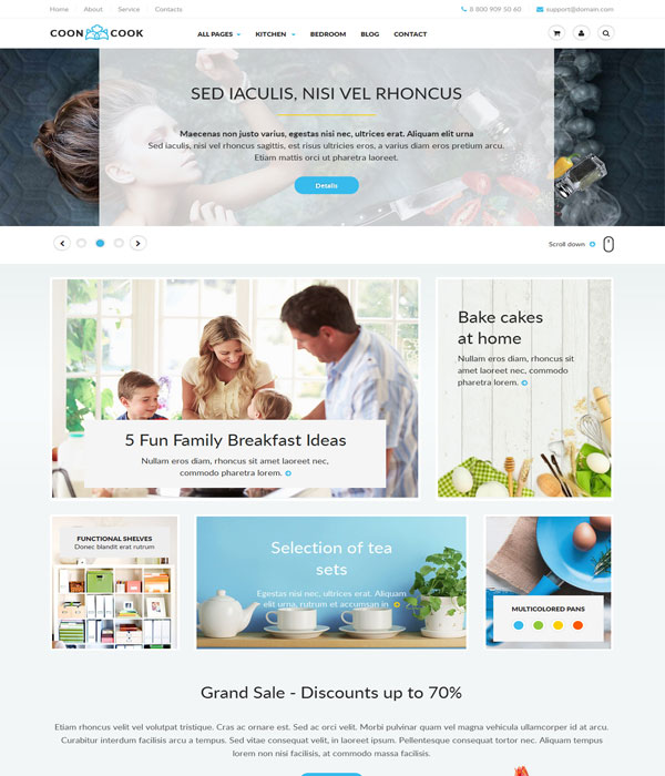 CoonCook - HTML 5 Template for Online E-commerce Store