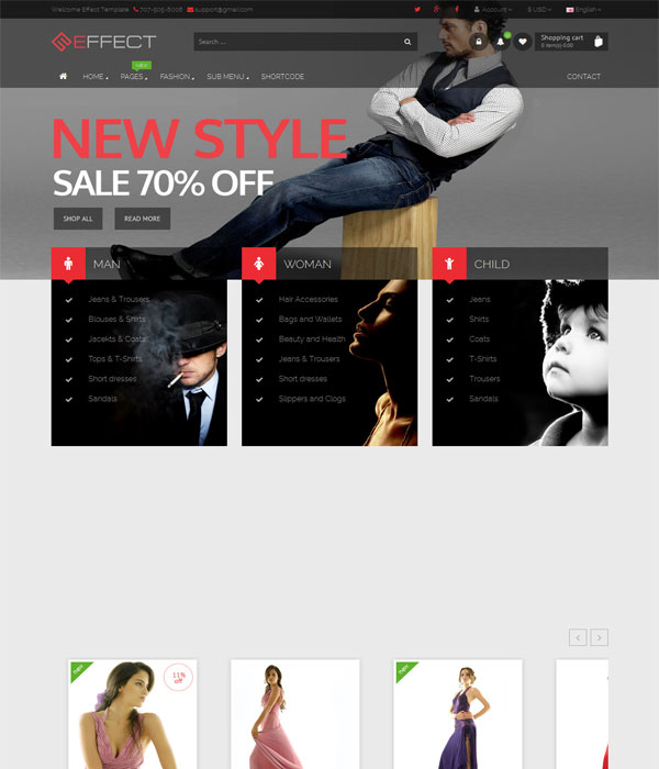 Effect -Bootstrap Responsive E-Commerce Template