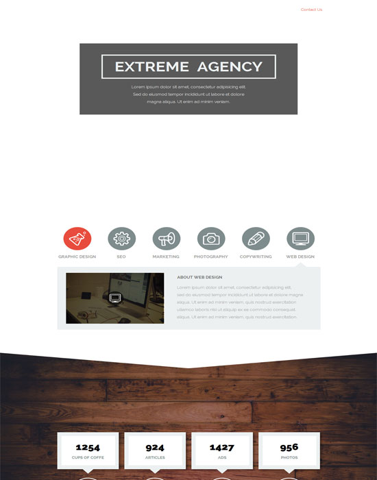 Extreme Agency - Creative Parallax HTML Muse Template