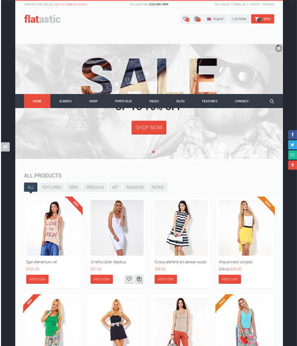 Flatastic -Bootstrap Ecommerce HTML5 Template