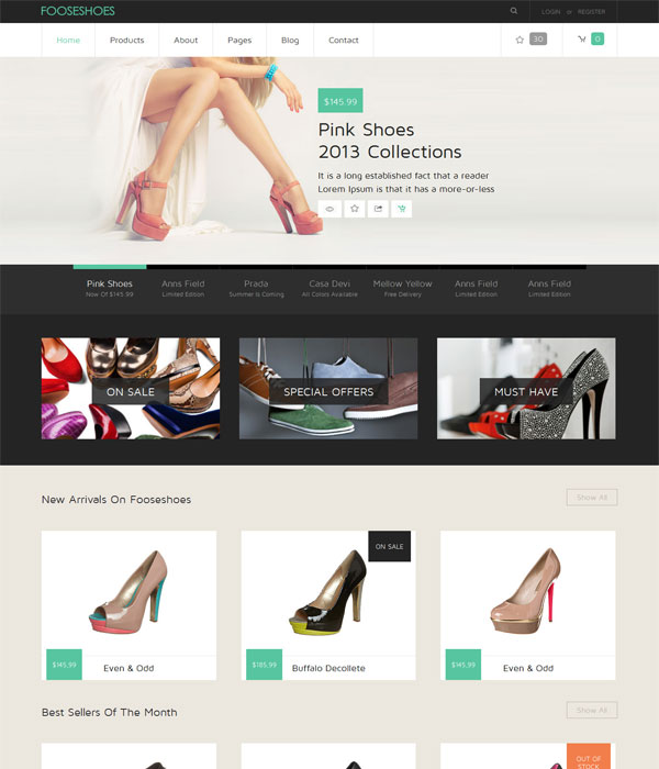 FooseShoes- E-commerce bootstrap template and responsive