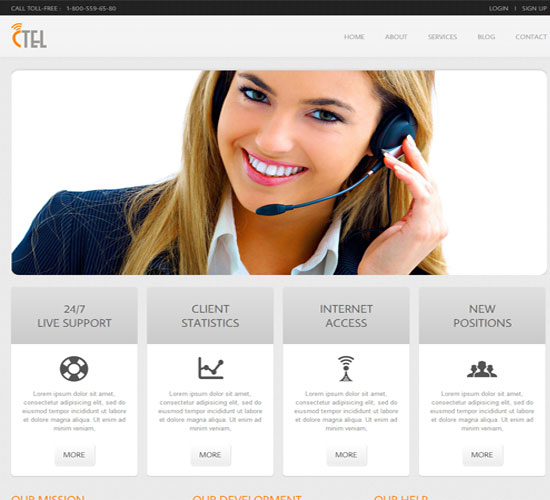 Free-CTEL Corporate mobile web Templates