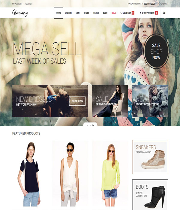 Glammy - Bootstrap eCommerce HTML5 Premium Template