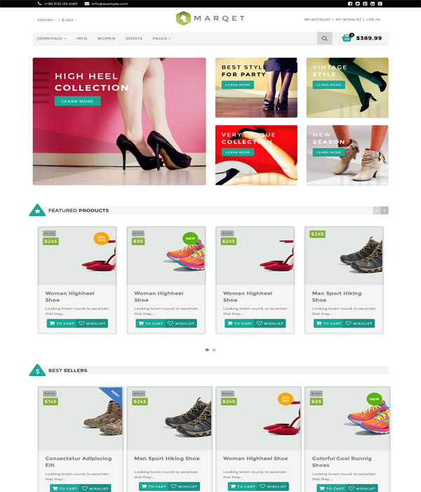 MarQet - Bootstrap E-Commerce html Template