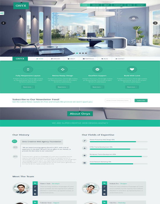 ONYX - One Page Creative HTML5 Website Template