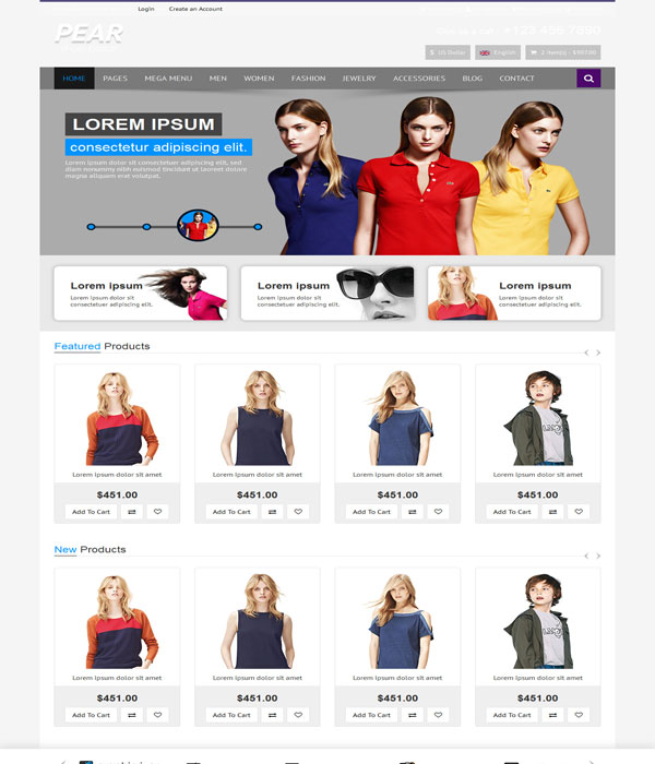 Pear - Bootstrap Responsive E-Commerce HTML5 Template