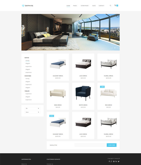 Sapphire - Bootstrap 3 eCommerce html5 web Template