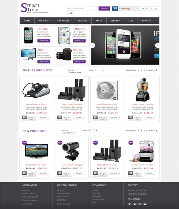 Smart Store-Perfect E-commerce store Bootstrap html template
