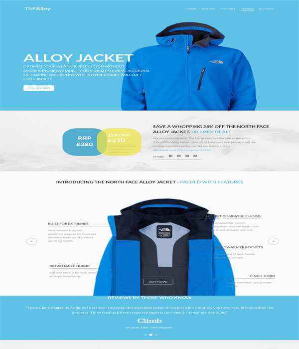 Tnf Alloy-Bootstrap E-commerce responsive html template free