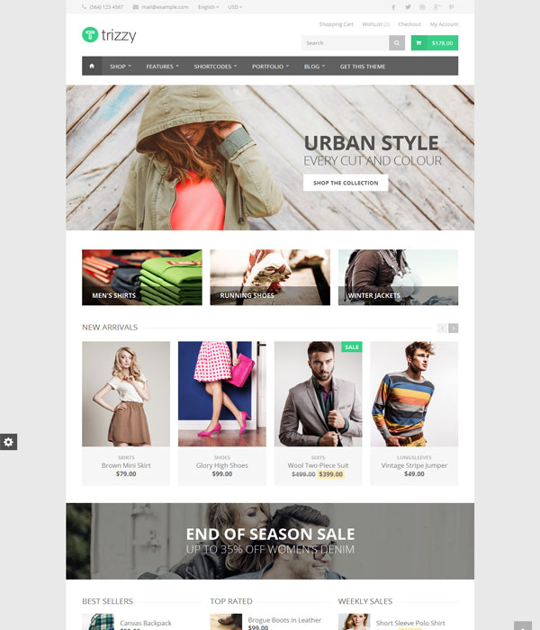Trizzy -Bootstrap Multi-Purpose eCommerce HTML Template