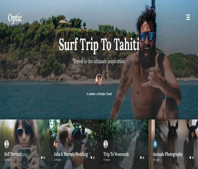 Optic - WordPress Themes for Photographers