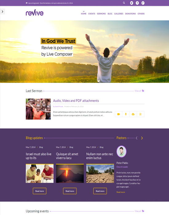 Revive: Charity, Events & Donations WordPress Theme