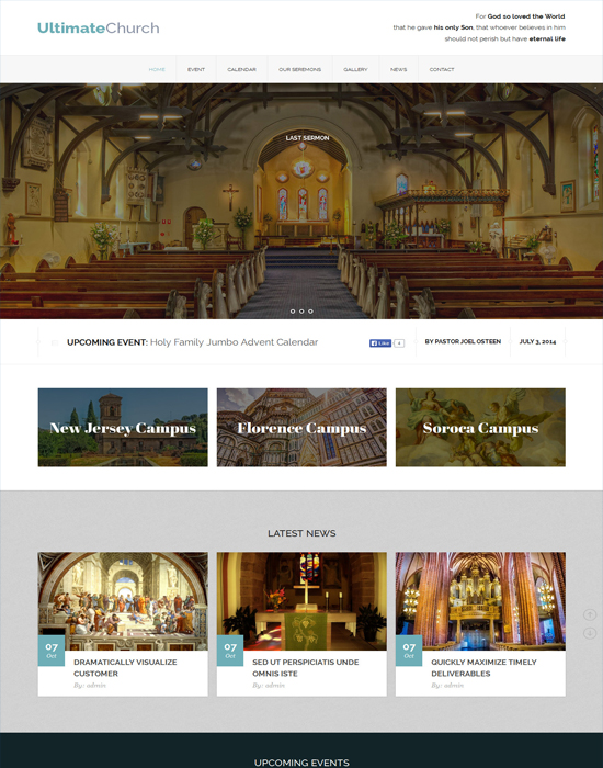 Ultimate Church-Charity Business Template for Churches