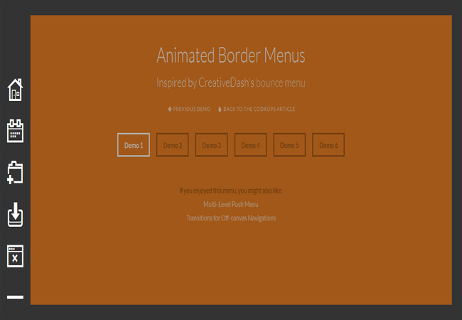 Animated Border CSS3 Menu Plugin