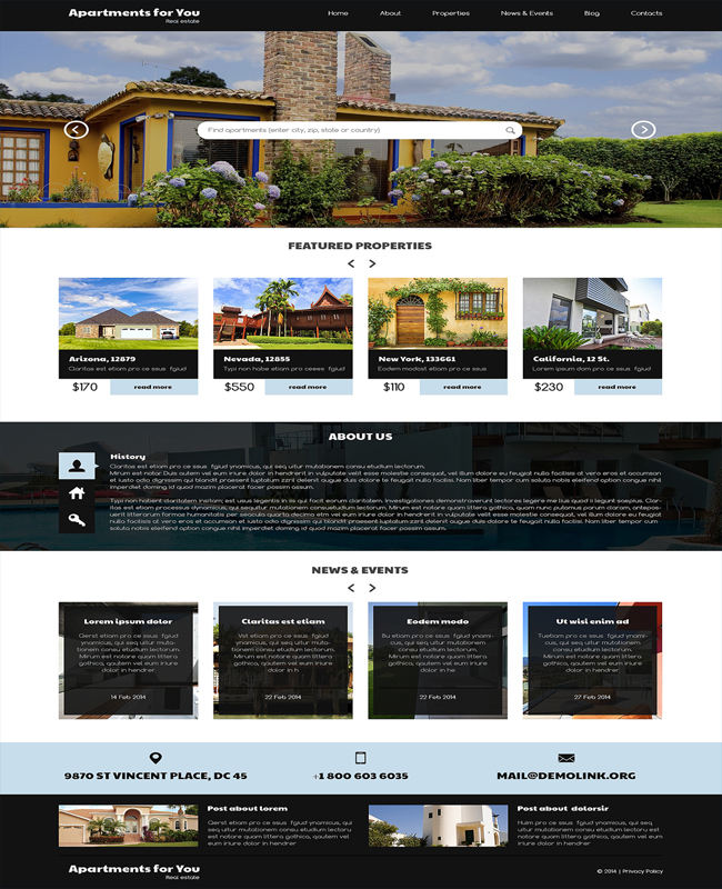 Apartment For You -Property Rent Buy WordPress Theme