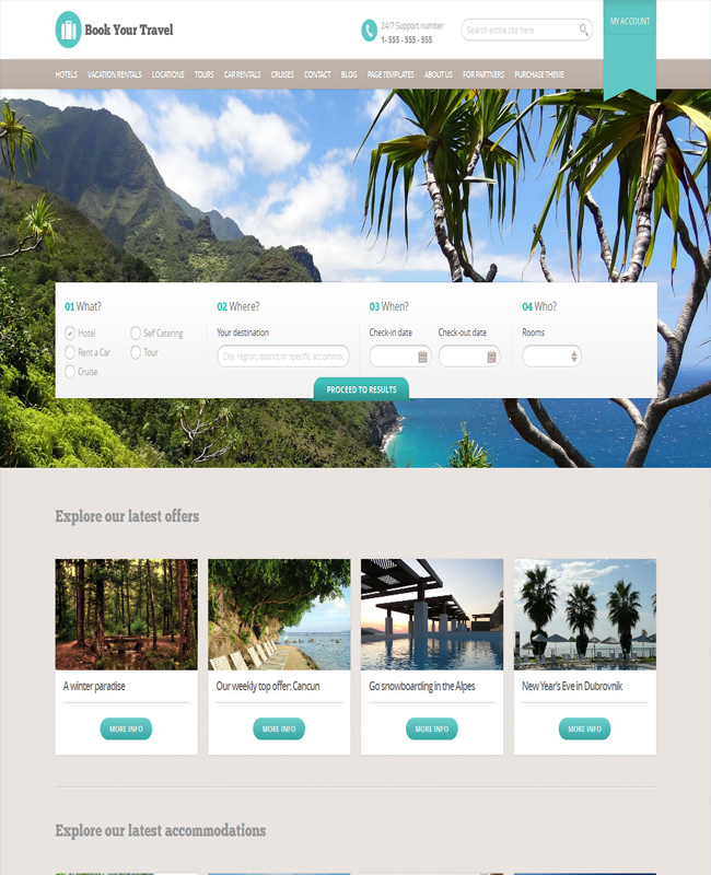 Book Your Travel - WordPress Online Booking Theme