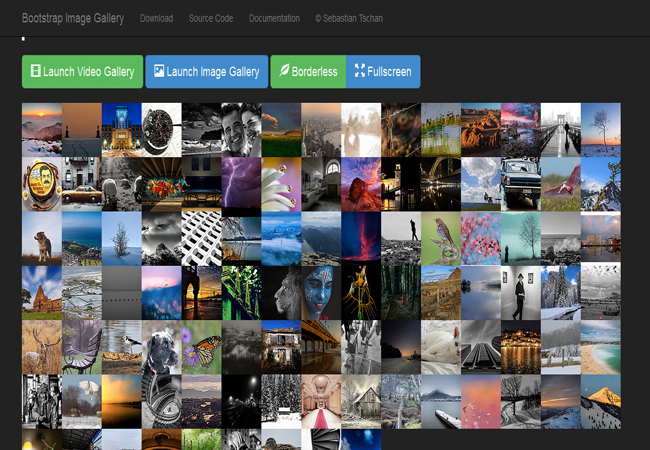 Bootstrap Image Gallery - Touch enable image and video Gallery