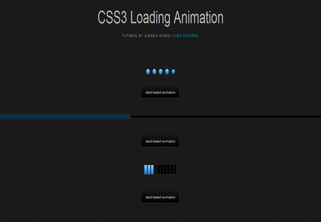 CSS3 Loading - Simple and smooth animated Free CSS3 Loader