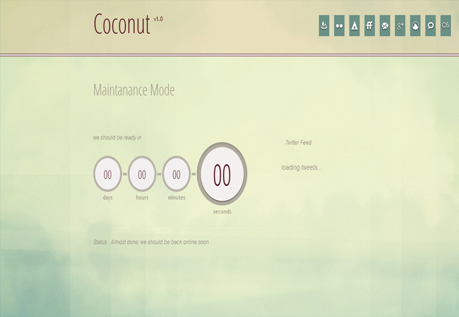 Coconut - Jquery simple clean Countdown Plugin