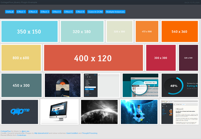 CollagePlus - Free jquery image arrange gallery plugin