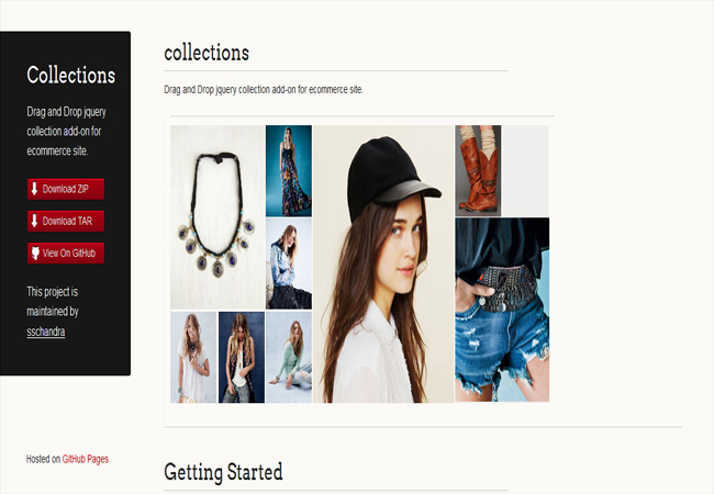 Collections - For ecommerce site Drag and Drop jquery collection add-on