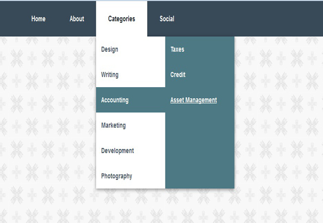 Color - jquery menu dropdown with Submenus