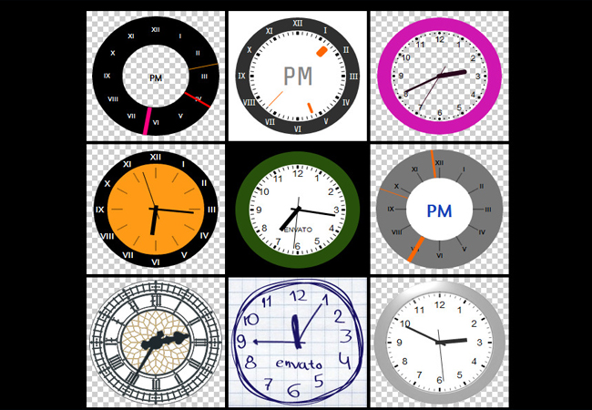Colorful - Beautiful Different size Clock counter