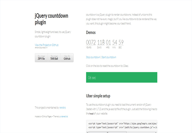 Final Countdown - Free date countdown plugin for jQuery