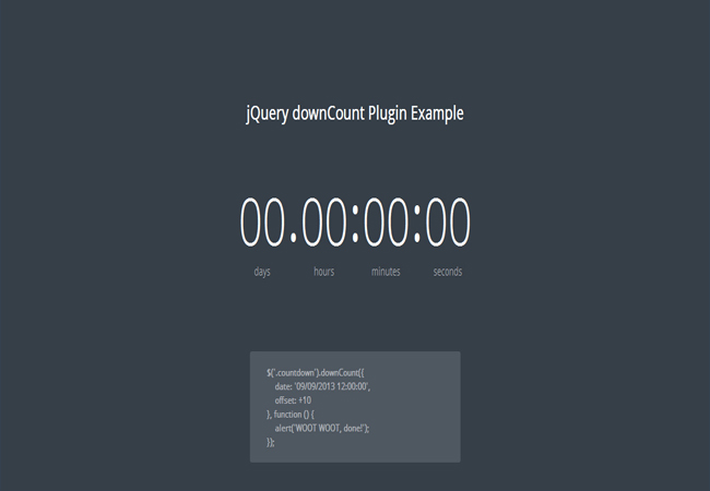 DownCount - Free lightweight js Countdown