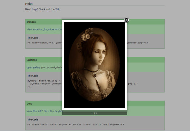 Facybox - Free jQuery lightbox gallery Plugin