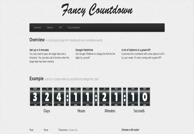 Fancy Countdown - Highly customizable jQuery Counter plugin