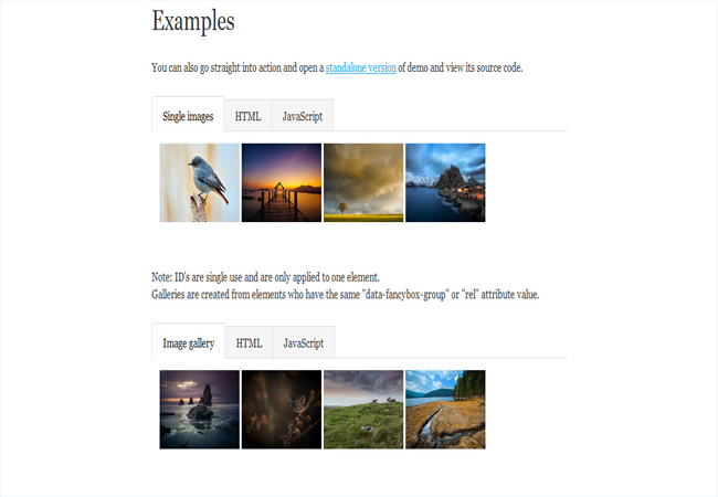 FancyBox - Nice and elegant jQuery gallery Free Plugin