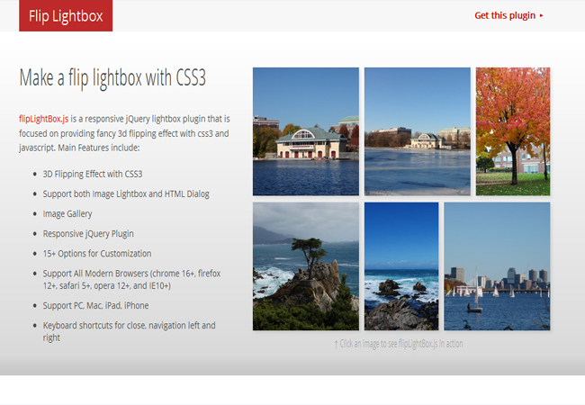 Flipping Lightbox - CSS3 and 3D with jQuery gallery plugin