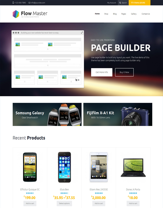 FlowMaster - Electronics Shop Page Builder WooCommerce Responsive Theme