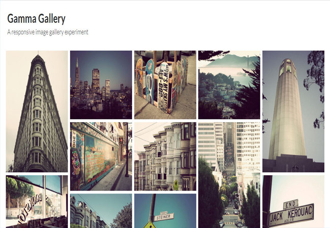 Gamma Gallery - Free CSS3 Responsive Image Gallery Experiment Plugin