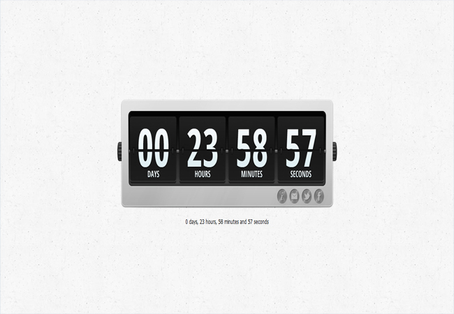 Gaur - Countdown with Animation jQuery Plugin