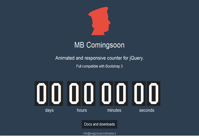 MB-Comingsoon – Animated responsive jQuery free countdown plugin