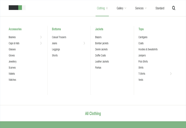 Mega-Site - A responsive and easy to customize mega Menu