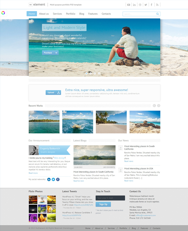 NuElement - Responsive Multi-Purposes Traveling WordPress Theme
