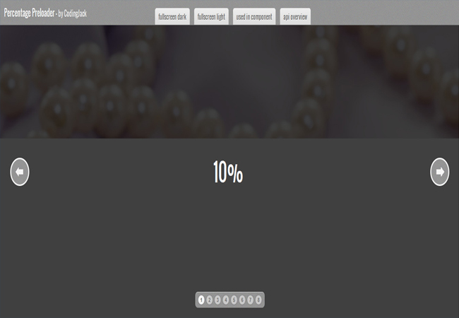 Percentage Preloader - Beautiful percentage based preloaders CSS3 Plugin