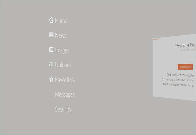Perspective - Page View Navigation CSS3 jQuery Plugin