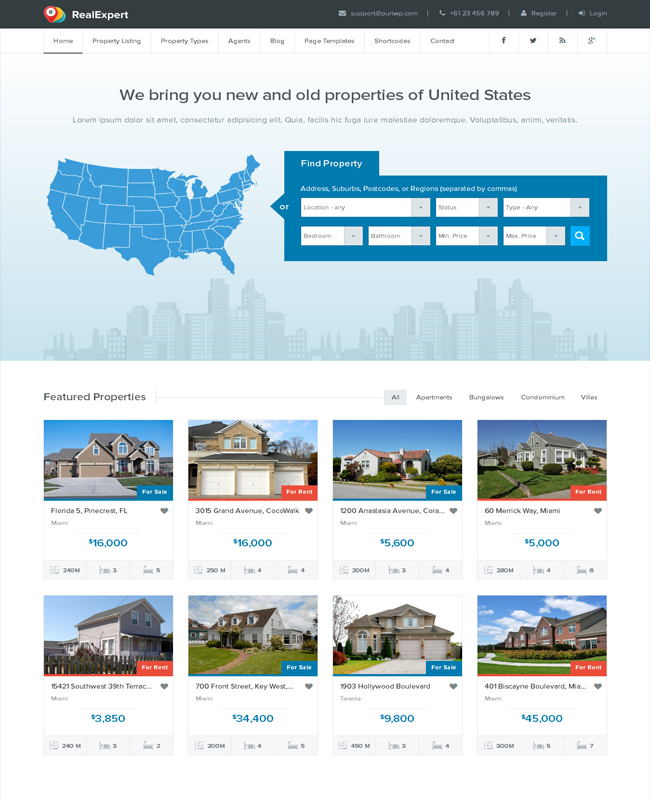 Real Expert - Minimal Real Estate WP Theme