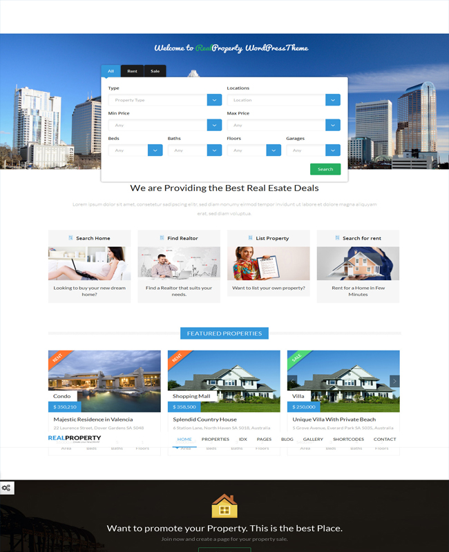 Real Property - Property Management Real Estate WP Theme