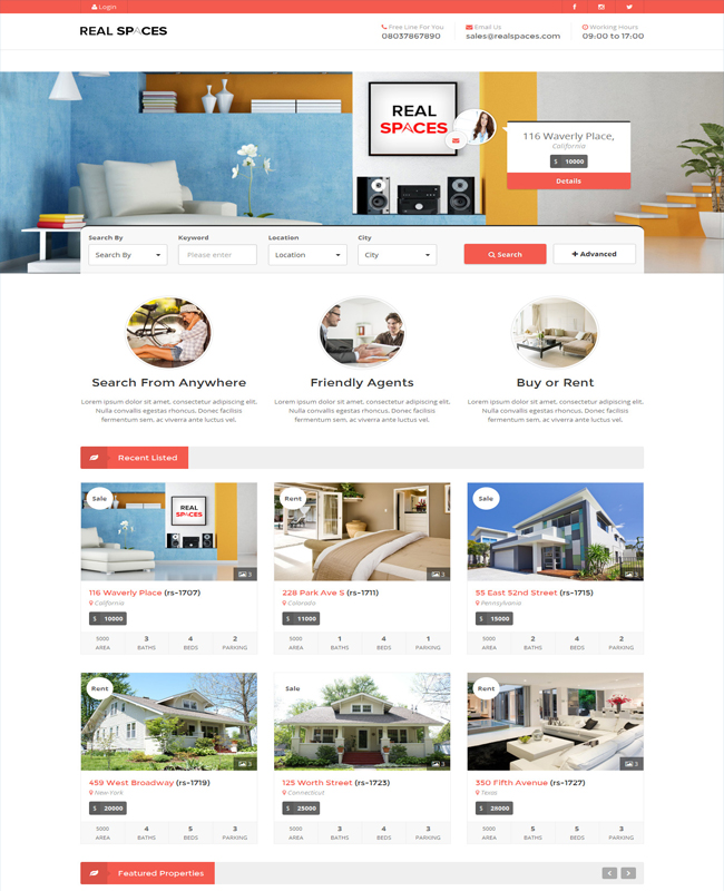 Real Spaces - WordPress Real Estate Business Theme