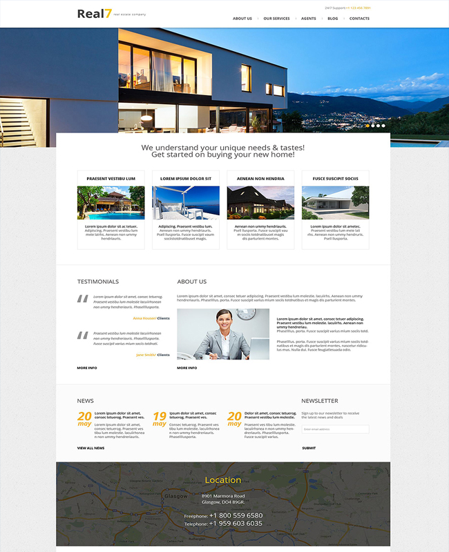 Real7 - Real Estate Agency WordPress Theme