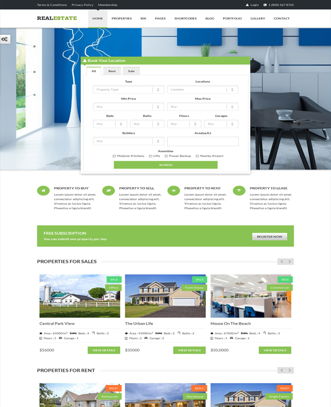 RealEstate - House Builders Real Estate Theme