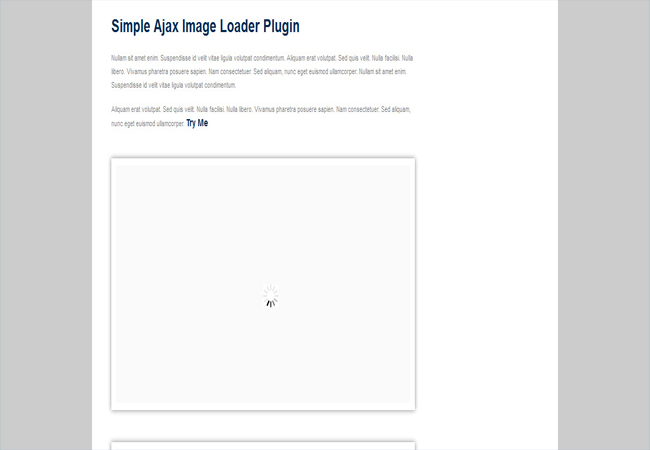 Simple - Content Ajax image Loader Plugin